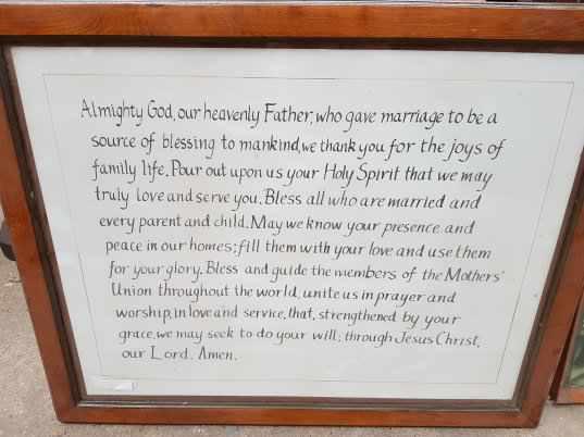 Large Last Supper Print and Framed Wedding Prayer Verse - Image 5 of 6