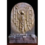 Unusual Collectable Plaster Fairing of Christ's Resurrection by Mary Nicoll