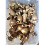 Large Box of Church Brass Flower Vases Clear Box
