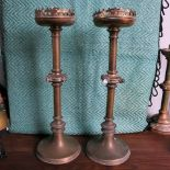 Candle Holders Tall Decorative Pair With Quartz Cabuchons Woolwich