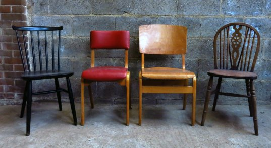 Four mixed Contemporary Chairs