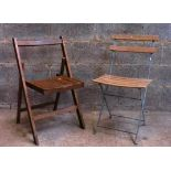 Two Folding Chairs - one old one new