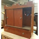Miniature Wardrobe Cupboard for Dolls or Pets Clothing