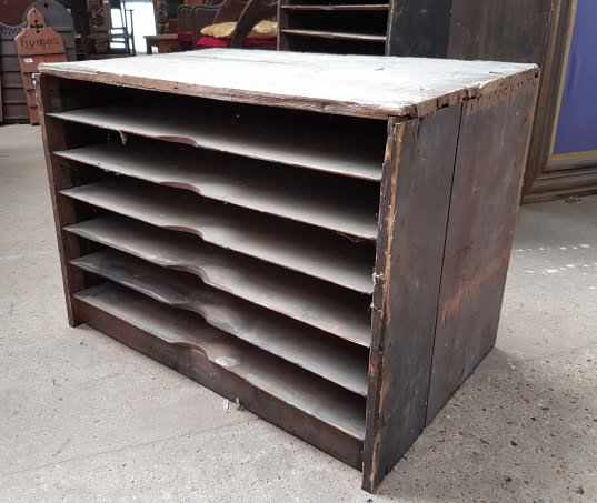 Victorian Printers Shelving Racking Unit Small - Image 2 of 4