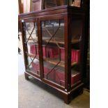 Mahogany Bookcase with Glazed Doors project