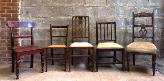 Five Old Mixed Chairs - George IV to George VI - Image 2 of 4
