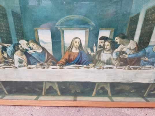 Large Last Supper Print and Framed Wedding Prayer Verse - Image 4 of 6