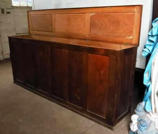 Extremely Large Oak Altar Vestment Chest - Image 2 of 10