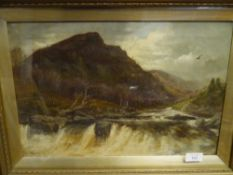 William B. Mitchell (Scottish, fl. 1884-1902), The Falls of Tummel, signed and dated 1901, oil on