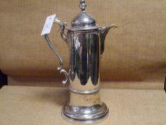 A large mid-Victorian silver coffee pot, Edward, John & William Barnard, London (mark indistinct, c.