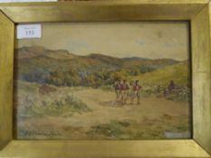 John Blake MacDonald R.S.A. (1829-1901), The Recruit, signed lower left, watercolour, framed. 18cm
