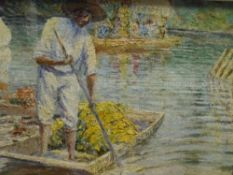 Cecil Crawford O'Gorman (Irish/Mexican 1874-1943), Mexican Flower Festival, signed lower right,