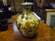 A 19th century Doulton Lambeth Faience Ware vase, of baluster form, decorated in the Persian taste
