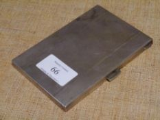 A mid-20th century Continental silver cigarette case, 800 grade, engine turned. 4.6 troy ounces