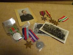 A group of World War II medals comprising: The Italy Star, The 1939-45 Star, The Burma Star, The