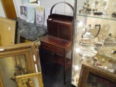 A small early 19th century crossbanded mahogany travelling desk, with cupboard superstructure, the