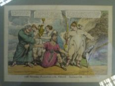 """Charles Williams (fl. 1797-1830), """"The Modern Calypso; or the Modern Enchantress"""", a hand-coloured"""