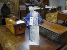 """A Royal Copenhagen porcelain figure, """"Nathan the Wise"""", modelled in turban and robes, underglaze"""