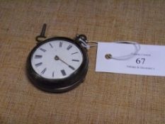 A 19th century silver pair cased pocket watch, the verge movement signed J. White London and