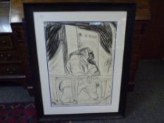 Peter Howson (Scottish, b. 1958), Leaning Dosser, limited edition lithograph, signed no. 24/28,