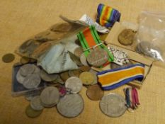 A group of World War I and World War II medals comprising: The War Medal and The Victory Medal, both