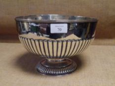 An Edwardian silver punch bowl, William Hutton & Sons, London 1905, in the Georgian taste, half-