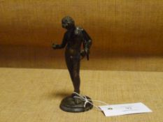 "After the Antique, a ""Grand Tour"" bronze of a Classical youth, probably 18th century. 13.25cm"