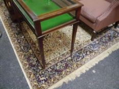 """A Kashmir """"Tree of Life"""" small carpet, on an ivory ground. 2m by 3m"""