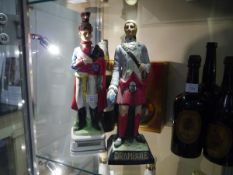 20th century Drambuie bisque figure Bonnie Prince Charlie and a continental Captain Royal Horse