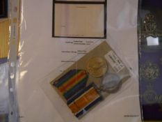 A World War I medal pair, The War Medal and The Victory Medal to 8208 Pte. W. Whileman, 8th Royal