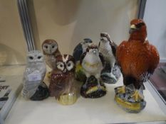 Collection of Royal Doulton Whyte and Mackay Birds of Prey decanters