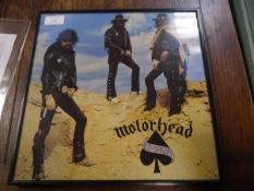 Motorhead Ace of Spades presentation picture, signed
