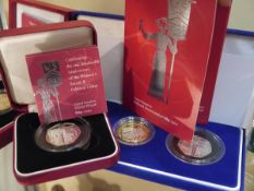 A group of Royal Mint commemorative coins comprising: a centenary of the Women's Social and