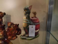 Mid 20th century novelty Tom and Jerry pottery money bank, copyright MGM 1972 impressed to base,