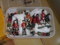 A group of vintage Timpo model soldiers, Scottish regiments, including pipers (28)