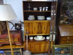 1960's Danish rosewood secretaire bookcase