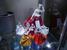 Collection of Royal Doulton figures including Gail HN2937 modelled by Peter Gee
