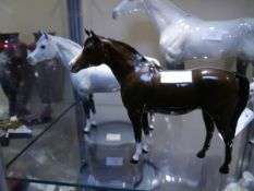 Beswick horse model 18.5cm and a Beswick Imperial Grey horse model 18.5cm