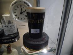 20th century Guinness display bar light