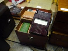 Leather case containing Evershed and Vignoles Limited mega insulation tester and another