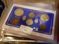 A group of Royal Mint and other coin sets comprising: GB 1924 including florin and half crown;