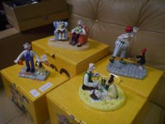 Collection of four Coalport Wallace and Gromit porcelain limited edition figurines including a Grand