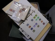 A collection of GB and Commonwealth stamps: including an album containing Victoria, Edward VII and