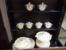Twenty six piece Royal Doulton dinner service decorated with transfer printed floral sprays c1940