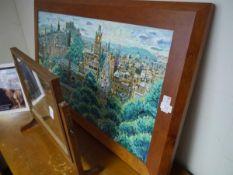 John Brown (Scottish), Edinburgh looking west, oil on canvas