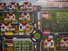 """Mark Copeland (b. 1956), """"The Aldersbrook Roundabout #15"""", signed lower right, dated (19)79, oil"""