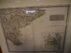After James Stobie, South East Part of Perthshire with Clackmannan, an engraved map, pub. 1827,