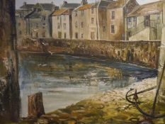Torquil J. MacLeod (Scottish 1933-2002), Harbour on the East Neuk, signed lower left, dated (19)