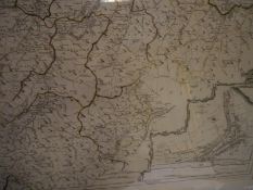 After Mostyn John Armstrong, a pair of coloured engraved maps, of the County of Peebles or Tweedale,