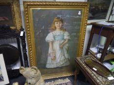 Alexina MacRitchie (Scottish, fl. 1885-1932), A Portrait of Miss Katherine Ewart, signed lower left,